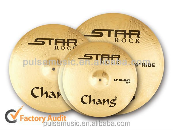 Chang Star Rock Brass Cymbal Pack