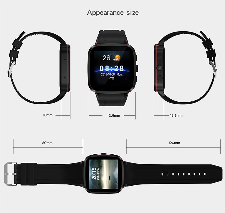 N8 android 5.1 OS 512m RAM 8G flash memory OGS Full-lamination Capacitive Touch Panel mtk6580 quad core CPU 5MP camera 3g watch