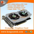 OEM NVIDIA GeForce GTX750TI 2GB GDDR5 DVI/HDMII/VGA Port PCI-Express 3.0 x16 Graphics Video Card
