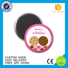 China high quality custom cheap button fridge magnet
