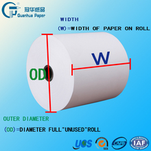 thermal paper rolls for credit card machines factory manufacture
