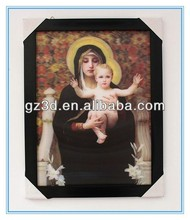 make good religious 3d lenticular photo frame of saint marry