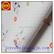 Girls face print combed cotton lycra knit fabric wholesale,stocklot cotton single jersey plain