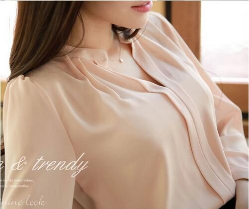 Professional Direct Custom LOGO ladies tops latest design solid color women blouse