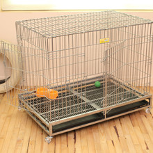 anti rust heavy duty folding wire square tube pet crate dog kennel