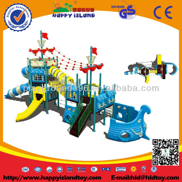 2014 Boat Design Kids Outdoor Playground Equipment,Amusement Park Equipment For Special Needs HC-9801