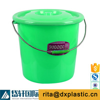 plastic bucket 20 liter with lid and rope handle