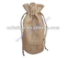 small jute wine gift bag