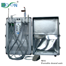 Hot selling 600W mobile mini portable dental unit equipment suction portable dental unit