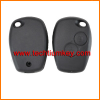 New design 2 button remote key case wiyth 434mhz 7947 chip for car key clio kango for renault