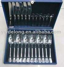 24pc stainless steel cutlery sets, flatware sets, kitchen tool set, fork, spoon