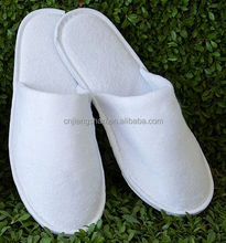 ( Verified Factory By Alibaba ) terry towel disposable hotel slippers with EVA slippers