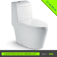 China Sanitary Ware siphonic s-trap ceramic one piece pedestal toilet