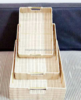 the newest set of 3 rattan storage basket with natural color