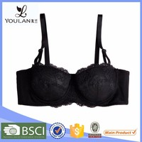 Low Price Custom Made Young Lady Back Closure Big Women Sexy Bra Nude