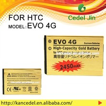 china factory High Quality 1540amh 3.7v Li-ion gold battery for HTC EVO 4G