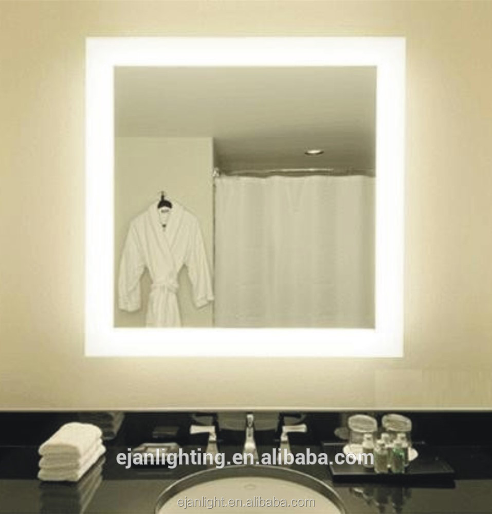 CE UL and ETL List Hotel and Living Bathroom High Light SMD 5050 LED Decorative Mirror Wall LED IP44 Mirror