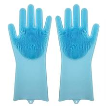 Silicone Dishwashing Gloves Silicone gloves with Scrubber