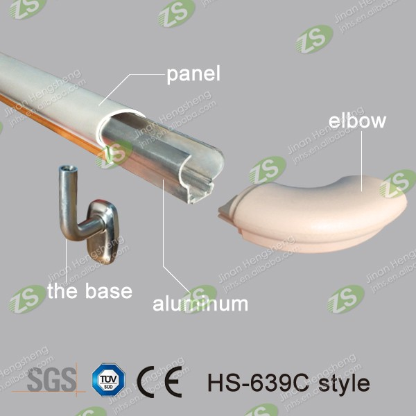 hospital plastic construction materials handrail