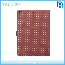 Flip Leather Case for iPad Pro 9.7 , For iPad Air 2 case Rivet ,Universal Tablet Case for iPad 5 6 7