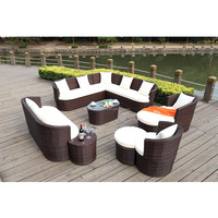 Outdoor furniture manufacturer supply woven rattan sofa leisure garden villa indoor sofa tea table set combination living room