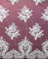 Ivory cotton indian lace embroidery fabric