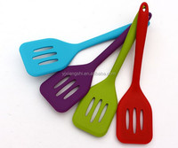 Hot Sale Colorful Food Grade Heat-Resistant Silicone slotted turner Cooking Utensils
