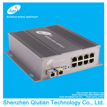 Industrial Managed SNMP 10/100Base_T(X) Ethernet 8-port and 1000M SFP single fiber single mode Ethernet Fiber Switch