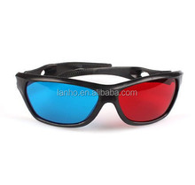 Resin Anaglyph Dimensional Movie DVD Game Red Blue 3D Glasses For TV 3D Movies