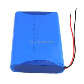 18650 7500mAh 14.8V Lithium Battery Pack for Detector