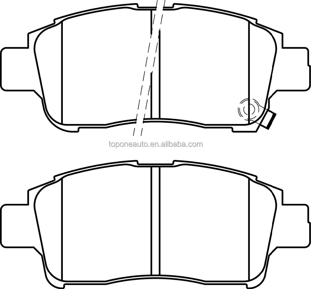 For TOYOTA Echo Brake Pad 04465-52070 D831 D2174M 23348