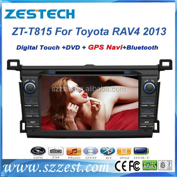 ZESTECH Central dashboard placement CE Certification Car DVD For Toyota Vanguard 2013 car gps navigation SWC BT