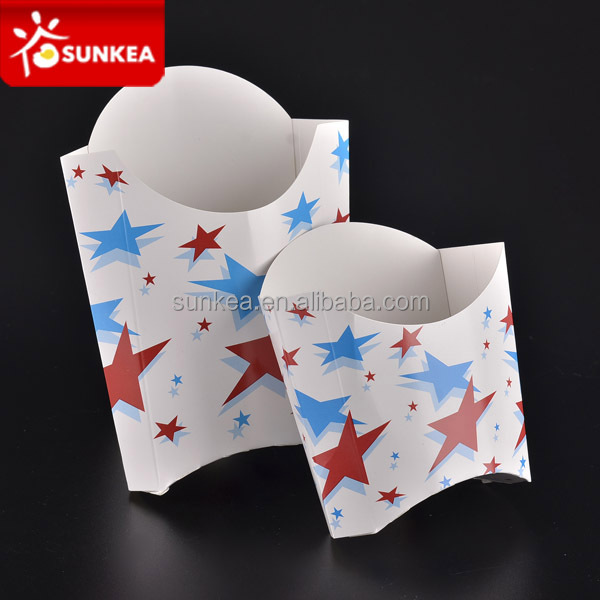 Disposable custom printed paper French fry / Potato chip container