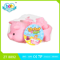 2015 New Item!PVC big pig+4 small pig baby bath learning toy