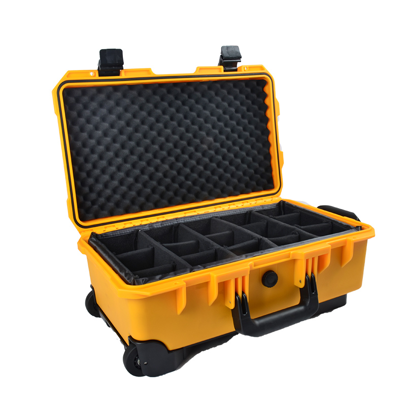 Hard Shell Waterproof Hard <strong>Plastic</strong> Camera Carrying Protective <strong>Case</strong> Trolley Camera <strong>Case</strong> With Foam Insert Padding