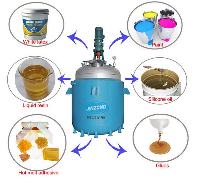 Guangzhou Jinzong Machinery Chemical Reactor Prices for Alkyd Resin, Paint, Adhesive Making