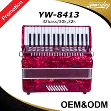 China Hot Sale Low Price 32 Bass 30Keys/32Keys Parrot Diatonic Piano Accordion