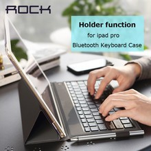 Bluetooth Keyboard leather case ROCK pu leather Cover Protective Bluetooth Keyboard Case for ipad pro