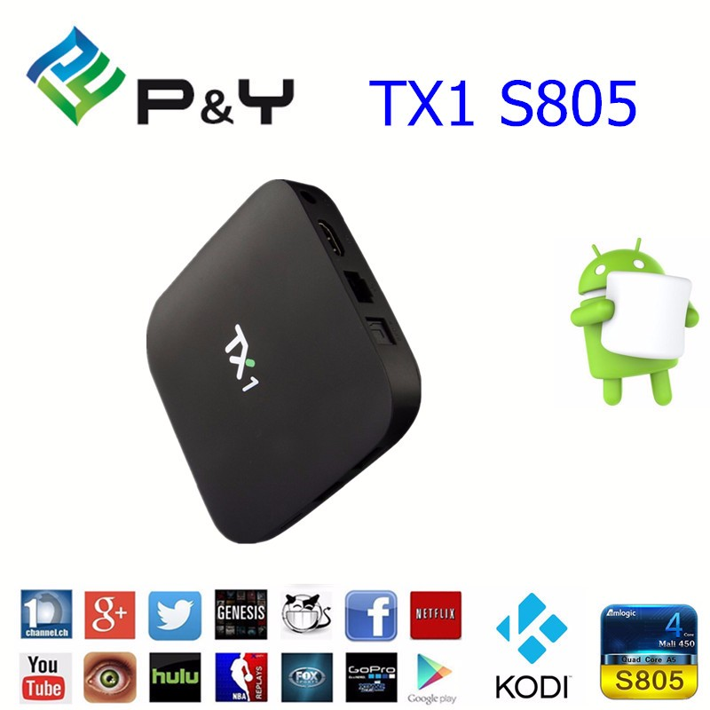 Cheapest Price Android 4.4 OS rom TX1 S805 1G 8G Android tv box set top box digital tv cable receiver