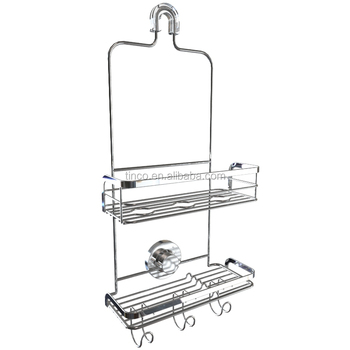 Rustproof Suction Stainless Steel Shower Caddy