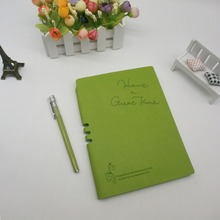 Hot selling recycled notebook with pen leather cover supplier