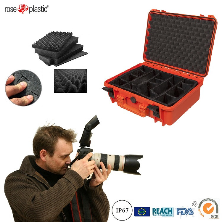 Hard durable solid handheld digital single lens SLRabs box case for cameras packaging with IP67 waterproof RC-PS 290/1