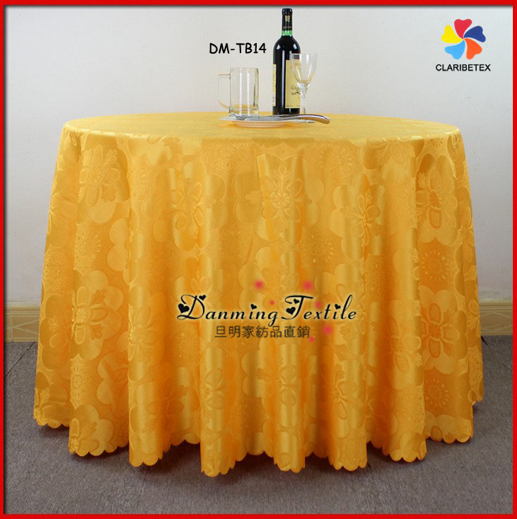 Wholesale Cheap Polyester Flower Pattern Jacquard damask TableCloth