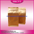 Factory wholesale ziplock side gussest pouch box block bottom coffee bag