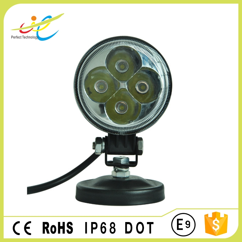 DC9~30V LED work light round 12w 3inch led motorcycle waterproof driving head lamp with high lumens