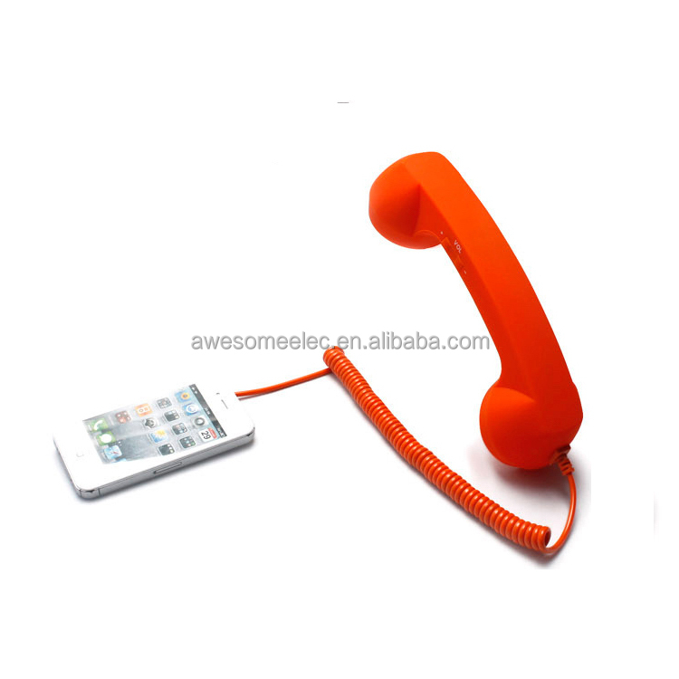Wired coco pop phone handset, Handset speaker phone with dock stand for retro phone handset
