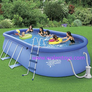 Swimming pool inflatable adult swimming pool 16 39 oval fast for Precios de piscinas inflables para adultos