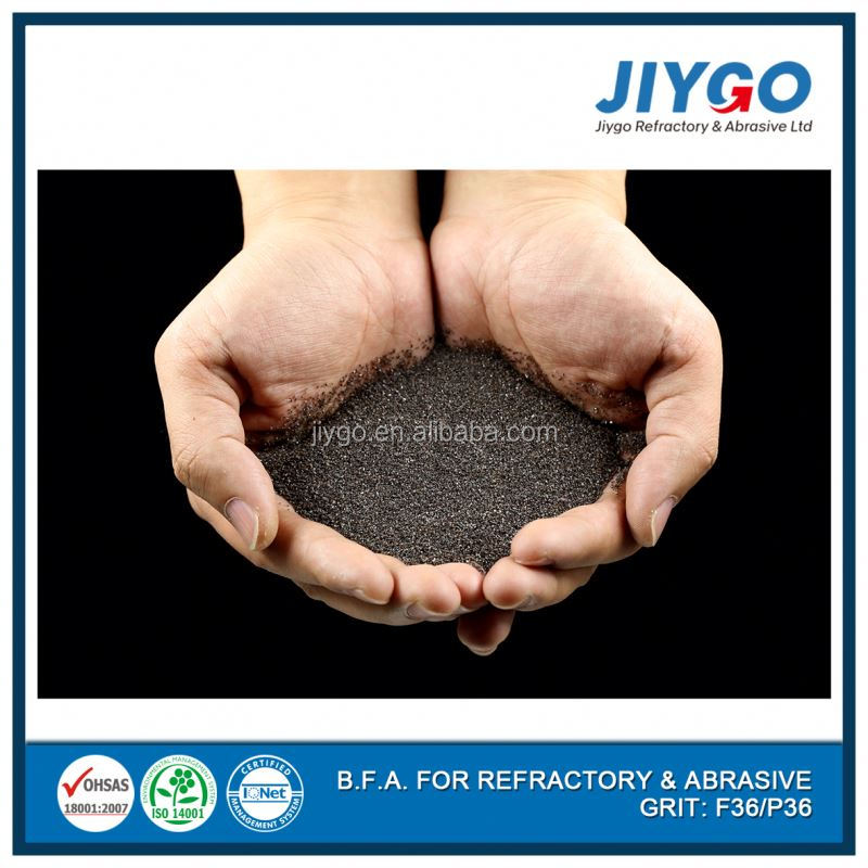Abrasives grade brown aluminium oxide with grinding and blasting