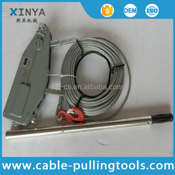 Cable Pulling Tools Hand Wire Rope Winch Wire Rope Tirfor 3.2 Ton