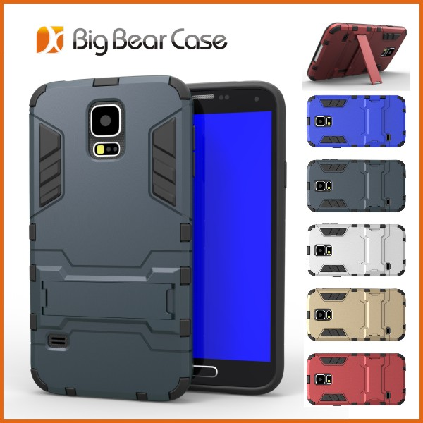 Hybrid slim armor cell phone cover case for samsung galaxy s5